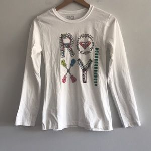 NWT Roxy Girl's Musical Graphic Tee Size 14/16